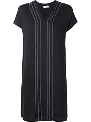 Vince Exposed Seam Dress Black