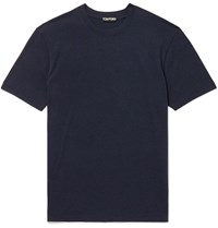 Tom Ford Slim Fit Lyocell And Cotton Blend Jersey T Shirt Blue