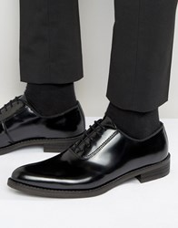 Zign Leather Hi Shine Oxford Shoes Black