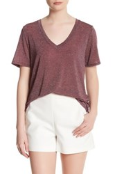Cupcakes And Cashmere Blair V Neck Short Sleeve Tee Red