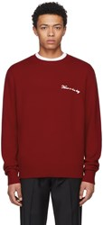 Rag And Bone Red Have A Nice Day Victor Pullover