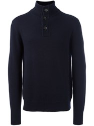 Aspesi High Neck Jumper Blue