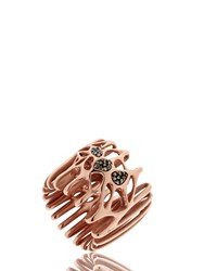 Flowen Radix Rose Gold Plated And Diamond Ring