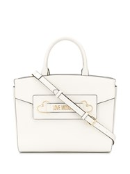 Love Moschino Logo Plaque Tote 60