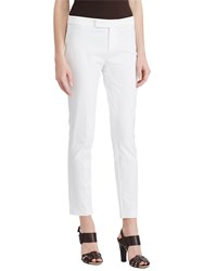Ralph Lauren Stretch Twill Skinny Trousers White