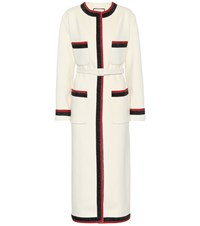 Gucci Belted Wool Coat White
