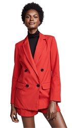 Nicholas Red Suiting Blazer