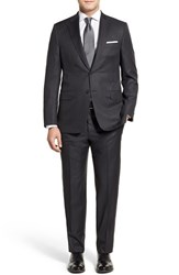 Men's Big And Tall Hickey Freeman 'Beacon B Series' Classic Fit Loro Piana Wool Suit Charcoal