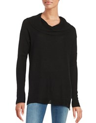 Lord And Taylor Petite Cowlneck Sweater Black