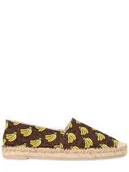 Moschino 20Mm Banana Printed Canvas Espadrilles