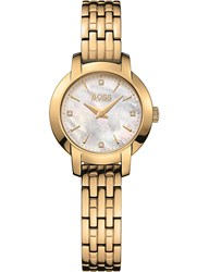 Boss Success Mother Of Pearl And Yellow Gold Pvd Watch