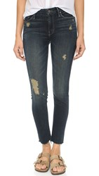 Mother Looker Ankle Fray Jeans Jaded And Torn