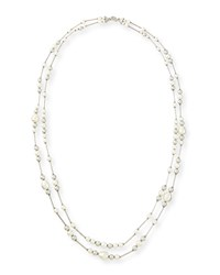 Double Strand Simulated Pearl Necklace Jose And Maria Barrera Silver