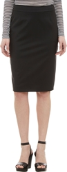 Barneys New York Twill Pencil Skirt Black