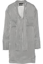 Belstaff Melanie Striped Satin Shirt Dress