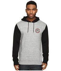 Brixton Soto Hoodie Fleece Heather Grey Black Men's Fleece Gray
