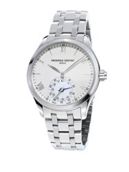 Frederique Constant Horological Swiss Quartz Stainless Steel Smart Watch Silver