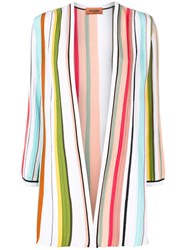 Missoni Open Front Striped Cardigan Blue