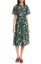 Kate Spade Women's New York Jardin Embroidered Lace Midi Dress