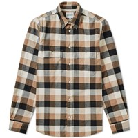 Norse Projects Villads Brushed Flannel Check Shirt Neutrals