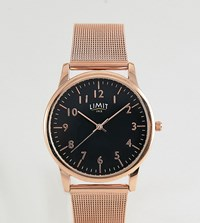 Limit Mesh Watch In Rose Gold Exclusive To Asos 38Mm Rose Gold