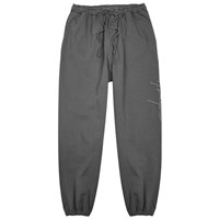 Second Layer Script Grey Cotton Jogging Trousers