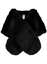 Shrimps Faux Fur Stole Black