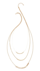 Jules Smith Designs Multi Chain Layered Necklace Gold