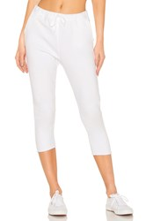 Frank And Eileen Tee Lab Cropped Sweatpant White