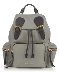 Burberry Medium Nylon Backpack Grey
