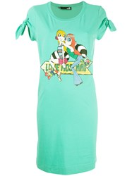 Love Moschino Logo Jersey Dress Green
