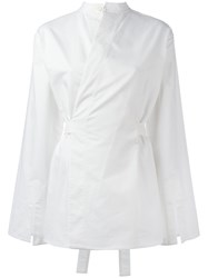 Joseph Wrap Shirt White