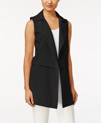 Calvin Klein Long Moto Vest Black