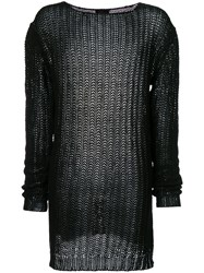 Lost And Found Ria Dunn Knitted Jumper Linen Flax Black