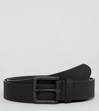 Asos Plus Wide Belt In Faux Leather With Black Coated Buckle Black