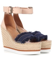 See By Chloe Wedge Espadrille Sandals Multicoloured