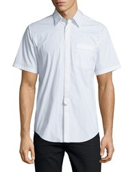 Alexander Wang Contrast Stitch Short Sleeve Shirt White Size 48