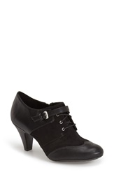 Naturalizer 'Bettina' Lace Up Bootie Women Black Faux Leather