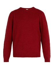 Massimo Alba Brushed Camel Hair Sweater Red