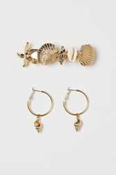 Handm H M Hoop Earrings Hairclip Gold