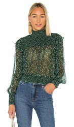 Free People Roma Blouse In Green.