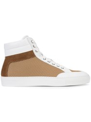 Koio Primo Mesh Hi Tops Unisex Calf Leather Polyester Rubber 44 White
