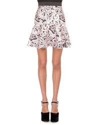 Mary Katrantzou Lace Print Flounce Skirt Women's