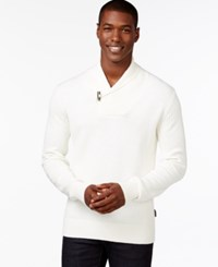 Sean John Toggle Shawl Collar Sweater Sj Cream