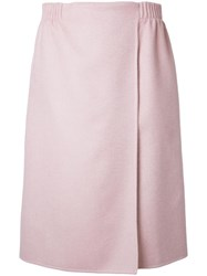 Agnona Wrap Skirt Pink Purple
