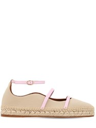 Malone Souliers 20Mm Selina Cotton And Leather Espadrilles Array 0X58a34f0