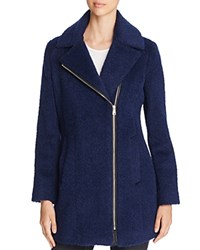 Andrew Marc New York Slim Alpaca Wool Blend Coat Ultramarine