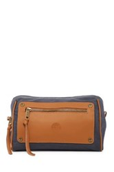Timberland Leather And Canvas Travel Kit Blue