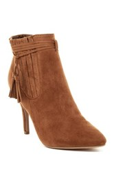 Top Moda Lilac Tassle Pointed Toe Boot Brown
