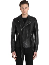 Christophe Terzian Lewis Perfecto Fringed Leather Jacket